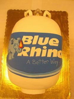 Blue Rhino Tank Cake Image