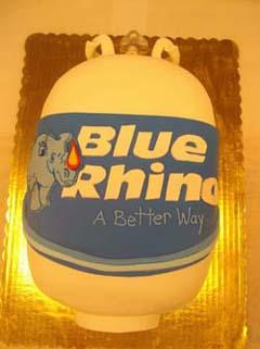 Blue Rhino Tank Cake Specialty Cake Image