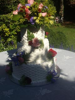 Basket Weave Wedding Cake Image