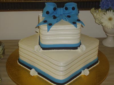 Bow Cake Wedding Cake Image
