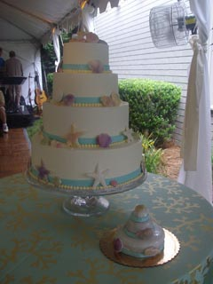 Sea Shell 2 Wedding Cake Image