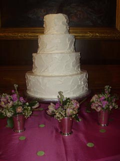 Spackled Wedding Cake Image